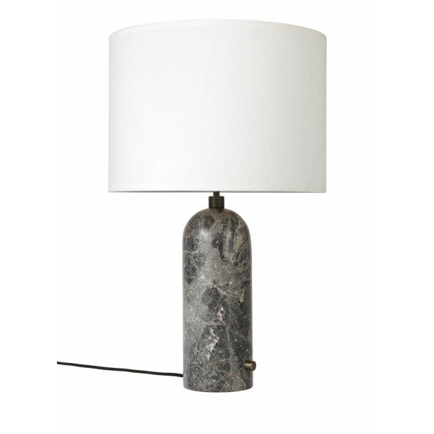 Gravity bordlampe L grå marmor/canvas (udstillingsmodel)