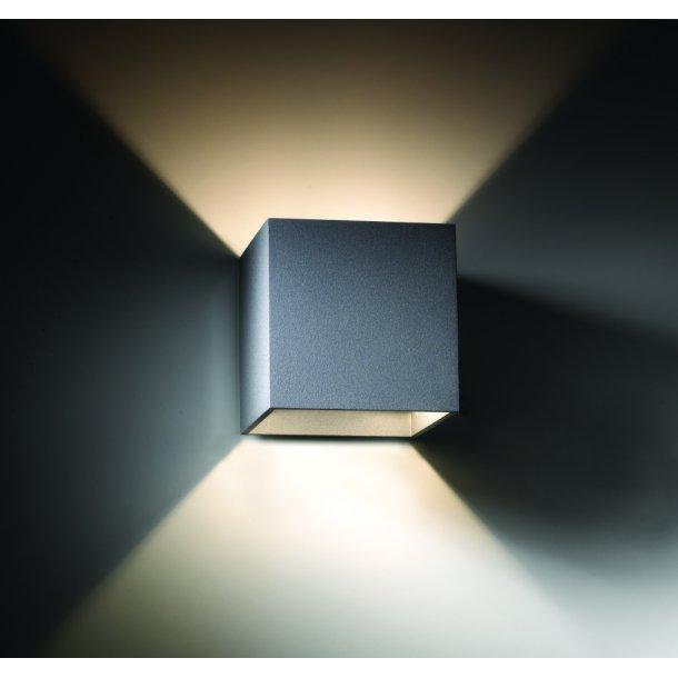 Square 3 up/down væglampe