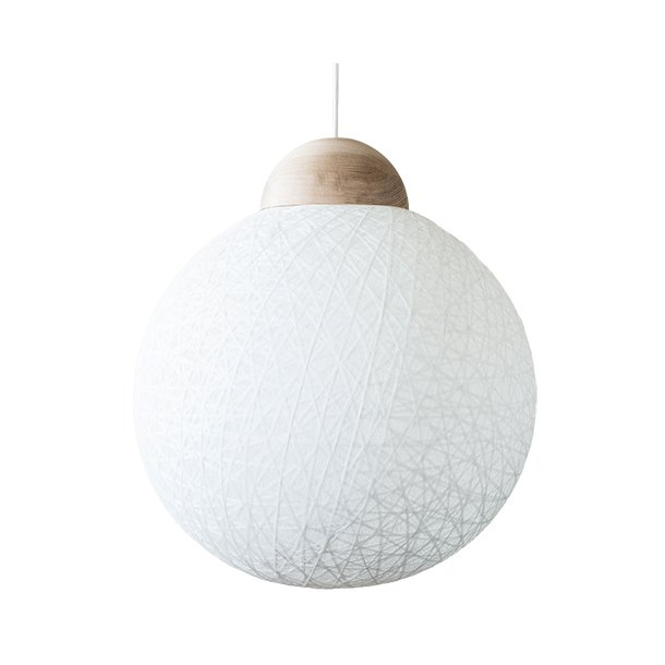 YarnBomb pendel/gulvlampe Ø50 natur eg