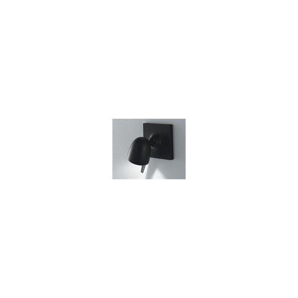 Coppa væglampe sort (Udstillingsmodel)