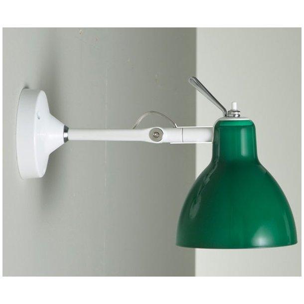 Luxy grøn lampe + ophæng/beslag (Udstillingsmodel)