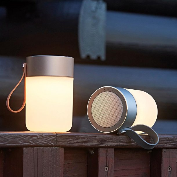SOUND JAR LED LAMPE/HØJTALER